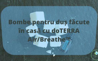 Bombe pentru duș făcute în casă cu doTERRA Air/Breath™